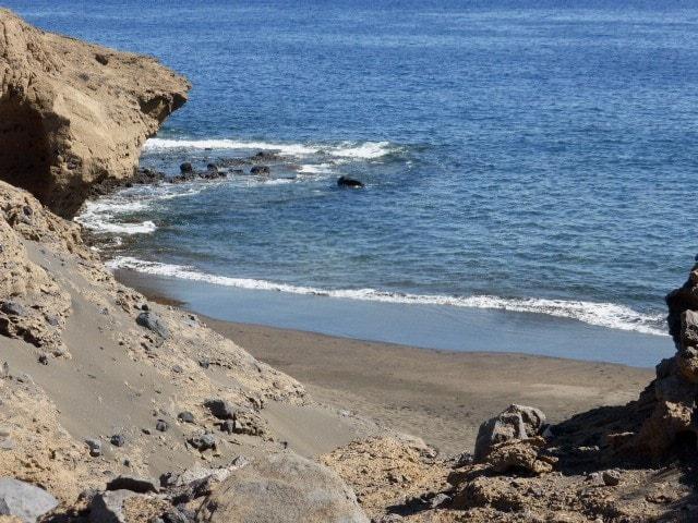 playa oculta en Tenerife